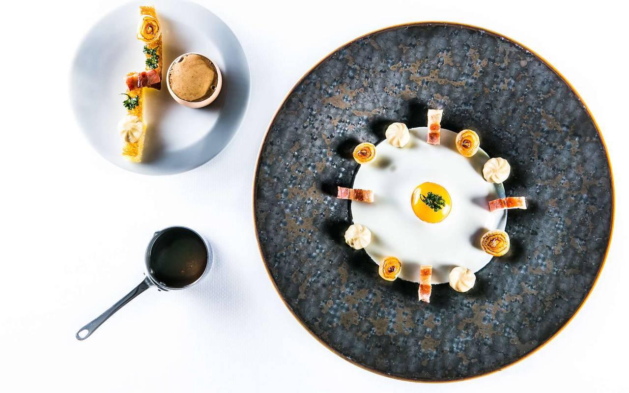 Luxurious gourmet dish Hotel spa Dijon