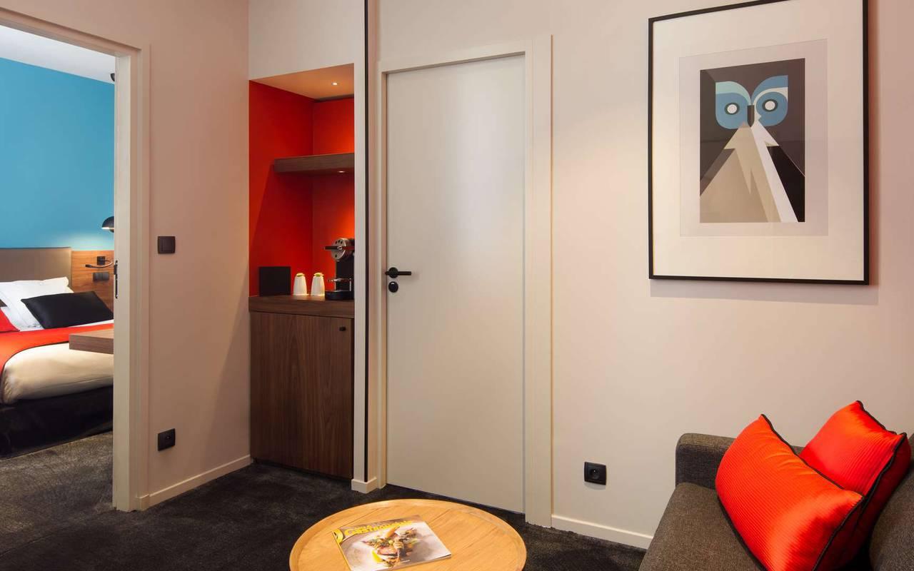 Spacieuse suite pour Famille hôtel Dijon