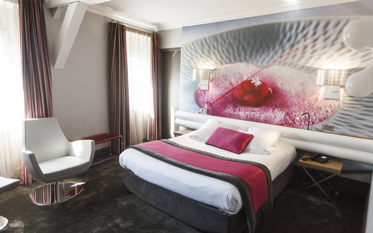 Chambre contemporaine Dijon hôtel spa Bourgogne