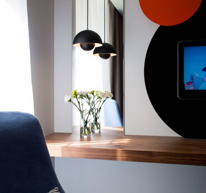 Chambre décoration moderne Hôtel de charme à Dijon